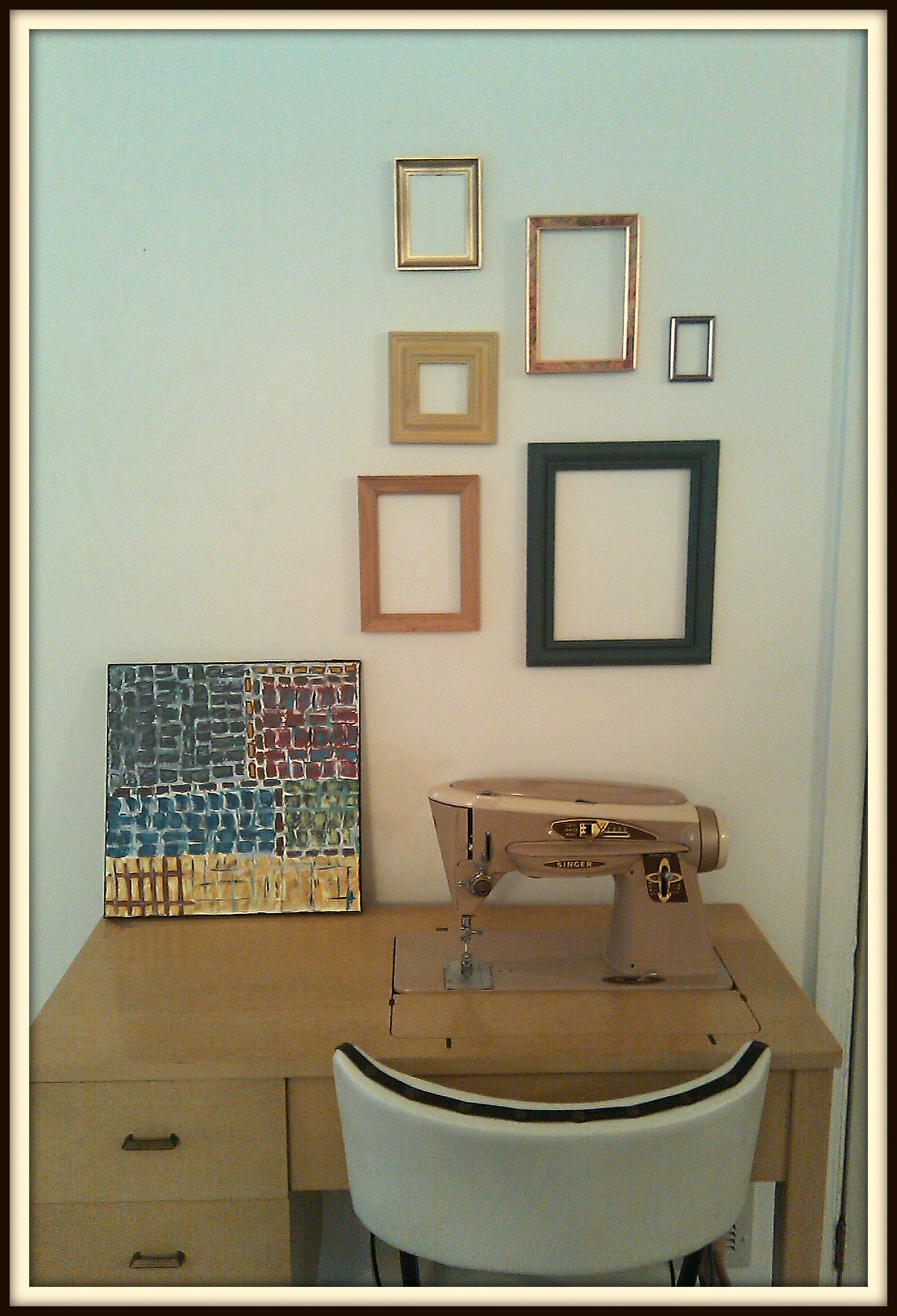 Picture frame wall for Table 6 kitchen canton ohio