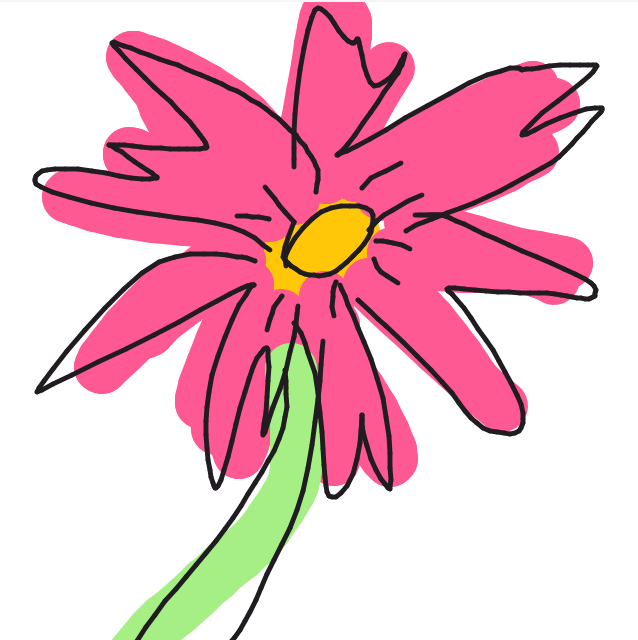 Draw Something - Flower